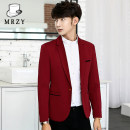 man 's suit Meiren Zhiyi Fashion City routine M L XL 3XL XXL 4XL 5XL Polyethylene terephthalate (polyester) 75% viscose fiber (viscose fiber) 23% polyurethane elastic fiber (spandex) 2% Autumn 2015 standard A single breasted button Other leisure Back middle slit Pure e-commerce (online only) youth
