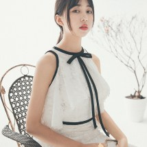 Wedding dress Fall 2017 white SMLXL Korean version Small tail Bandage Hotel Interior One shoulder Netting Three dimensional cutting H170947 High waist 18-25 years old Embroidery Sleeveless shawl Magnificent and elegant Large size Pure e-commerce (online only) Other 100% American network 30% and below