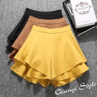 Casual pants Brown pink white yellow blue black Recommendation [s-95] kg Summer of 2018 shorts Wide leg pants High waist commute 18-24 years old