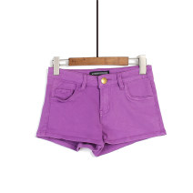 Casual pants violet XS,S,M,L,XL Summer 2017 shorts Straight pants High waist street routine 96% and above Other / other cotton fold Europe and America