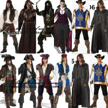 Clothes & Accessories CJ / Chen Jiao Style 1, style 2, style 3, style 4, style 5, style 6, style 7, style 8, style 9, style 10, style 12, pirate Halloween male Pirate Captain Average size Cosplay costume of Pirates of the Caribbean Yes