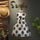 Dress Black dot Other / other female 5, 7, 9, 11, 13 Other 100% summer Korean version Skirt / vest Dot other other Class B