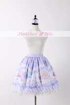 skirt Summer 2015 Average size Pink, lavender, cyan, sax, sold out Short skirt Sweet Natural waist Cake skirt 18-24 years old Print, lace Lolita
