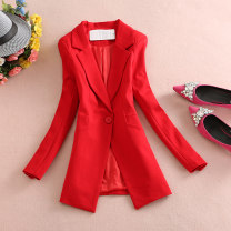 suit Spring 2020 M,L,XL,2XL,3XL,4XL Long sleeves Medium length Self cultivation tailored collar A button commute routine Solid color 81% (inclusive) - 90% (inclusive) cotton Other / other Button, pocket