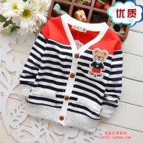 Plain coat Other / other male The reference height of S / 80 is 80cm, M / 90 is 85CM, L / 100 is 90cm, XL / 110 is 100cm spring and autumn leisure time Single breasted No model routine nothing Cartoon animation Pure cotton (100% cotton content) V-neck qw Cotton 100% Class B