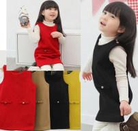 Dress khaki female Other / other 90cm,130cm Cotton 100% spring and autumn Skirt / vest Pure cotton (100% cotton content) Cake skirt Class B 2, 8, 9, 6, 5, 3, 7, 4