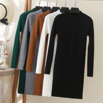 sweater Autumn 2021 M. L, XL, 2XL, M Long sleeves Socket singleton  Medium length nylon 30% and below Half high collar thickening commute routine Solid color Self cultivation Heavy wool Keep warm and warm 18-24 years old Rimehouse thread nylon