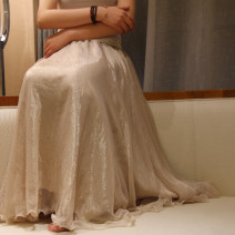 skirt Summer of 2019 XS,S,M,L,XL,2XL longuette Versatile Pleated skirt Solid color 71% (inclusive) - 80% (inclusive) Chiffon nylon Ruffles, bright silk, pleats, gauze
