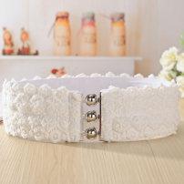 Belt / belt / chain cloth female Waistband Sweet 6cm alloy Knitting elastic Summer 2016