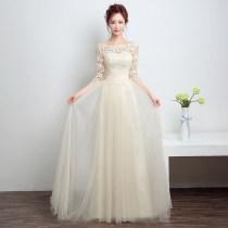 Dress / evening wear Ежегодная дата исполнения свадьбы для взрослых SMLXLXXL Шампанское красное дымное серое Весна 2018 г. Корейская версия бандаж