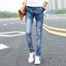 Jeans Youth fashion Rothfield Twenty-eight ft710 Thin money Micro bomb Thin denim 5827-2 Cotton 69% polyester 27.6% viscose (viscose) 2% polyurethane elastic (spandex) 1.4% Summer 2017 Pure e-commerce (online only)