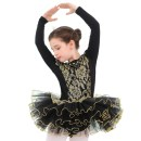 Children's performance clothes black female 110, 120, 130, 140, 150, 160, 170, 180 Silkily Class B Ballet Cotton 93% polyurethane elastic fiber (spandex) 7% Pure cotton (100% content) Three, four, five, six, seven, eight, nine, ten, eleven, twelve, thirteen Europe and America