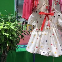 Dress Dress female Other / other 80cm,90cm,100cm,110cm,120cm Cotton 100% summer Korean version Short sleeve Dot cotton A-line skirt 18 months, 2 years old, 3 years old, 4 years old, 5 years old, 6 years old, 7 years old, 8 years old, 9 years old, 10 years old
