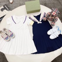 Dress female Other / other 90cm,100cm,110cm,120cm,130cm,140cm,150cm Other 100% spring and autumn Europe and America stripe wool A-line skirt Class A Chinese Mainland Zhejiang Province Hangzhou