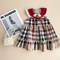 Dress Stock, order female Other / other 80cm,90cm,100cm,110cm,120cm Cotton 80% other 20% summer Korean version Long sleeves lattice cotton Vest skirt Class A 12 months, 3 years, 3 months, 6 years, 18 months, 9 months, 6 months, 2 years, 5 years, 4 years Chinese Mainland