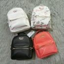 Backpack PU Other / other brand new Small zipper leisure time Double root soft youth no Soft handle Solid color nothing female Vertical square inside pocket with a zipper polyester fiber Three dimensional bag PU