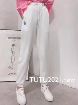 Casual pants white Winter 2020 trousers Wide leg pants High waist commute routine 25-29 years old polyester fiber pocket cotton Asymmetry