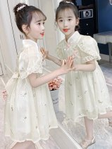 Dress female Other / other Cotton 100% spring and autumn ethnic style Long sleeve cotton lattice A-line skirt Class A Chinese Mainland Beijing Beijing Apricot 130 factory standard 13120 factory standard 11110 factory standard 9100 factory standard 7,90 factory standard 5
