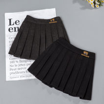 skirt 19 (about 145cm), 25 (about 160cm), 23 (about 155cm), 7 (about 90cm), 21 (about 150cm), 15 (about 130cm), 13 (about 120cm), 11 (about 110cm), 9 (about 100cm), 17 (about 140cm) Dark grey, black Other / other female Other 100% winter skirt college Solid color Pleats cotton Class B
