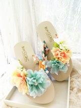 slipper 35 (small for 34) 36 (small for 35) 37 (small for 36) 38 (small for 37) 39 (small for 38) 40 (small for 39) 41 (small for 40) Other / other Rice (mixed color flower) rice (green flower) coffee (mixed color flower) coffee (green flower) now there are no pearls on the inside of shoes Slope heel