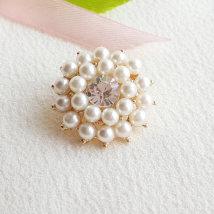 Button DIY 1 off white 25mm N420