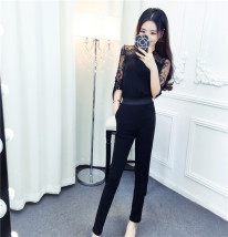 Casual pants Black (stock version) black S M L Spring of 2018 trousers Pencil pants Natural waist Sweet routine 18-24 years old Other / other