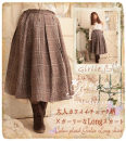 skirt Winter 2016 Average size coffee Mid length dress Retro Natural waist A-line skirt lattice Type A 18-24 years old 81% (inclusive) - 90% (inclusive) knitting cotton