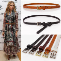 Belt / belt / chain top layer leather female belt Versatile Single loop Pin buckle Glossy surface Glossy surface 1.4cm alloy Pretty girl