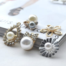 Other DIY accessories Other accessories Alloy / silver / gold RMB 1.00-9.99 Bow, drip, five leaf, flower, silver sunflower, 3-color Pearl