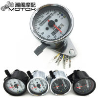 Motorcycle instrument MotoParty Double mileage (black shell and black background) double mileage (black background and white background) double mileage (white shell and white background) double mileage (white shell and black background) YB-14