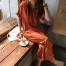 Dress Summer of 2018 Orange, dark green S (short version) m (long version)