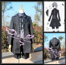 Cosplay women's wear Other women's wear Customized Over 8 years old Coat + shirt + Vest + shorts + Eye Mask wig (100% high temperature silk blue gray mixed color) shire ring leg ring comic L m s XL XXL one size fits all Wenbo animation Japan Black deacon The shire
