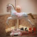Ornaments Glass fiber reinforced plastics animal Single horse + pole horse + pole + base Floor ornaments