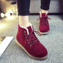 Boots 35 36 37 38 39 40 Yellow wine red black coffee Suede Other / other Low heel (1-3cm) Flat bottom Suede Short tube Round head Artificial Plush