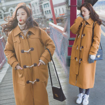 woolen coat Winter 2017 XS S M L Camel other 51% (inclusive) - 70% (inclusive) have more cash than can be accounted for Long sleeves Ox horn buckle Other / other