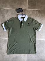 Polo shirt abcdefghijklmnopqrstuvwxyz Business gentleman routine Army green L standard go to work Four seasons Seven hundred and twenty-eight Cotton 100%
