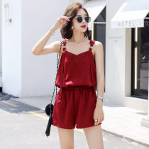 Casual pants Navy Red S M L XL Summer of 2018 shorts Jumpsuit street eighteen thousand two hundred and twenty-six other