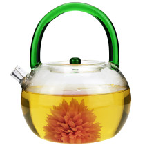 teapot Heat resistant glass other Heat resistant glass Self made pictures [amber handle] kettle [green handle] kettle [dark blue handle] kettle [transparent handle] kettle [yellow handle] kettle Haoxiang house