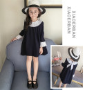 Dress Navy Blue Many / Manyi female Other 100% spring and autumn Korean version Long sleeves other other Pleats 81L278 Class B