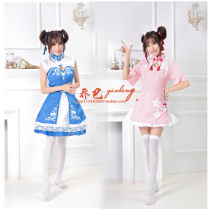 Cosplay women's wear skirt goods in stock Over 14 years old Pink pink + stockings pink + Skirt Pink + stockings + Skirt Blue + stockings Blue Skirt Blue + stockings + Skirt Blue Animation film and television Average size Fan Lolita