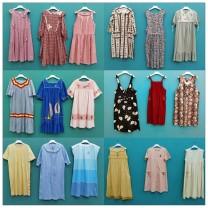 Dress Spring 2020 Average size longuette singleton  Sweet A-line skirt cotton solar system