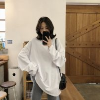 Sports T-shirt Other / other M 80 ~ 110 kg, l 110 ~ 130 kg, XL 130 ~ 145 kg, XXL 145 ~ 170 kg Long sleeves female Crew neck White, black, yellow, green easy Moisture absorption, perspiration, quick drying, breathable Autumn of 2019 cotton