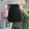 skirt Spring 2021 S,M,L Black, green Short skirt commute High waist Pleated skirt Solid color Type A 18-24 years old 51% (inclusive) - 70% (inclusive) other other Korean version