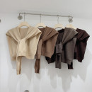 Scarf / silk scarf / Shawl wool Apricot, khaki, dark grey, brown spring and autumn female Shawl multi-function Korean version other youth Solid color other 45cm 100cm 51% (inclusive) - 70% (inclusive) other