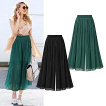 Women's large Summer 2017 Green, black Large XL, large XXL, large XXL, large XXXXL, large XXXXL trousers