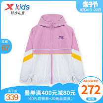 Windbreaker White light pink 130cm 140cm 150cm 160cm 165cm XTEP / Tebu female spring and autumn leisure time No detachable cap Zipper shirt have cash less than that is registered in the accounts Other 100% other other No belt Spring 2021
