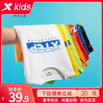 T-shirt XTEP / Tebu 100cm 110cm 120cm 130cm 140cm 150cm 160cm 165cm 170cm male summer Short sleeve Crew neck leisure time There are models in the real shooting nothing other Brand logo Cotton 80% polyester 20% Sweat absorption Summer 2020 Chinese Mainland Fujian Province Quanzhou City