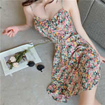 Dress Summer 2021 Picture color S,M,L Middle-skirt singleton  Sleeveless commute V-neck Decor other routine Others 18-24 years old Type A 31% (inclusive) - 50% (inclusive) other