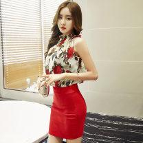Dress Summer 2020 White, black S,M,L,XL Short skirt singleton  Sleeveless commute 18-24 years old Type H Korean version