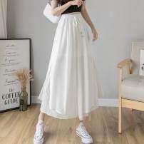 Casual pants S,M,L,XL Spring 2021 Ninth pants Wide leg pants High waist commute Thin money 71% (inclusive) - 80% (inclusive) other Korean version Bandage